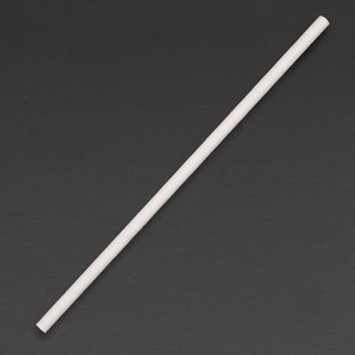 DE925 Fiesta Green Compostable Paper Straws White (Pack of 250)
